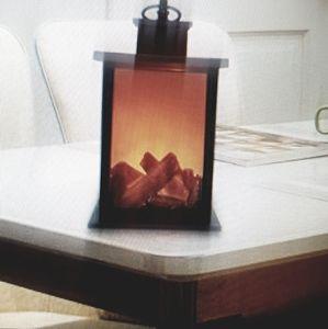 LED Hanging Fireplace Lantern